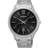 SEIKO 城市簡約美學時尚腕錶-黑/42mm 7N42-0GG0D(SGEH53P1)