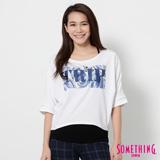 SOMETHING 網路限定 出芽果凍印花短袖T恤-女-白色