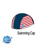 Splash About 潑寶 Swim Hat 抗UV泳帽-海軍藍 / 紅白條紋