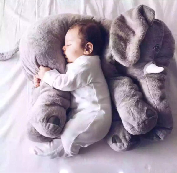 【PS Mall】療癒大象抱枕安撫嬰兒絨毛娃娃靠枕(J2001)