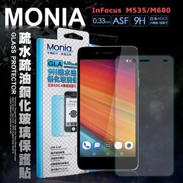 MONIA 富可視 InFocus M535 / M680 可共用 日本頂級疏水疏油9H鋼化玻璃膜 玻璃保護貼