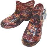 【波克貓哈日網】日本進口雨鞋◇短靴式造型◇《花朵圖案》氣墊內墊