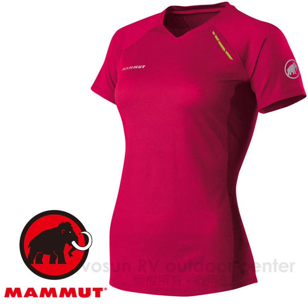 【瑞士 MAMMUT 長毛象】MTR 71 T-Shirt Women 女款 無著感。機能型排汗彈性短袖舒適短T(跑步 自行車 三鐵).吸濕快乾透氣/桃紅 05560-3159