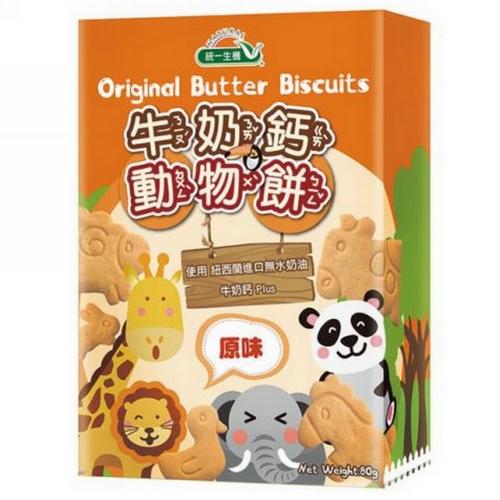[統一生機]牛奶鈣動物餅(原味) 80g