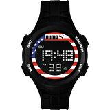 PUMA 復刻奧運美國時尚運動腕錶-PU911301010