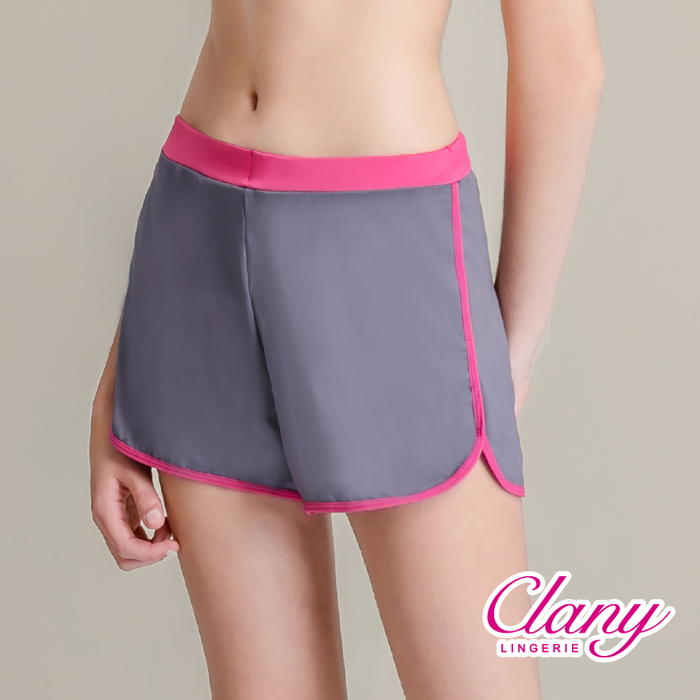 O【可蘭霓Clany】防走光時尚顯瘦L-XL運動短褲 優雅灰 5921-62