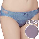 【思薇爾】迷漾花園系列M-XXL蕾絲低腰三角內褲(迷漾紫)