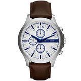 A│X Armani Exchange 翱翔天際三眼計時腕錶-AX2190