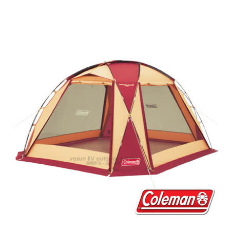 【Coleman】圓頂網屋勃根地380