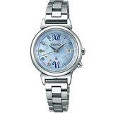 SEIKO 精工 LUKIA 藍色精靈太陽能電波彩鑽腕錶/28mm/1B25-0AF0B