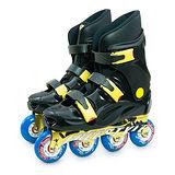 【D.L.D多輪多】鋁合金底座 專業競速直排輪 溜冰鞋 黑黑 FS-1