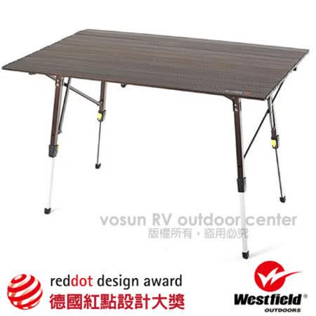 美國 WEST FIELD 超輕鋁合金折疊鋁捲桌