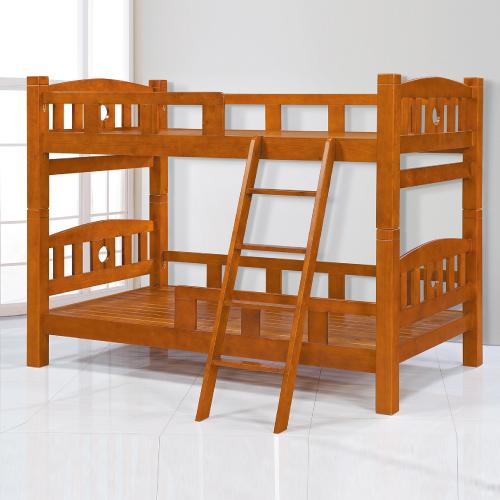 【AS】愛迪森3.5尺全實木雙層床