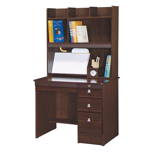 【AS】Libby3尺胡桃色書桌全組