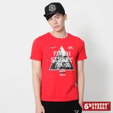 5th STREET 三角街景印花短袖T恤-男-紅色