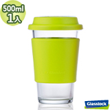 Glasslock馬卡龍強化玻璃環保隨手杯500ml一入(蘋果綠)