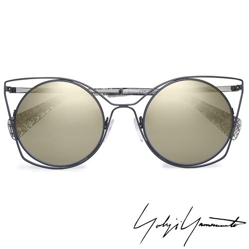 Yohji Yamamoto 山本耀司 時尚前衛太陽眼鏡-金-YY7007-004