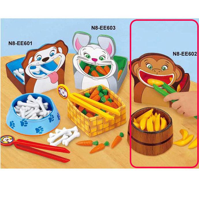 【華森葳兒童教玩具】感覺統合系列-小猴餵食樂 N8-EE602