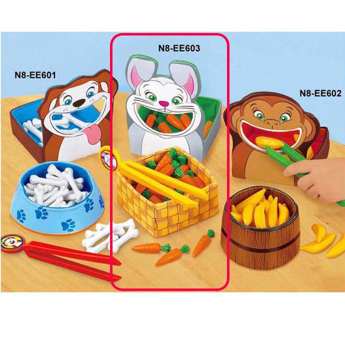 【華森葳兒童教玩具】感覺統合系列-兔兔餵食樂 N8-EE603