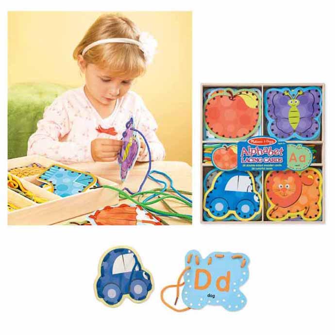 【華森葳兒童教玩具】感覺統合系列-穿線練習-字母 N7-9490
