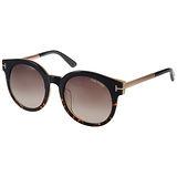 TOM FORD 太陽眼鏡 經典T字圓框貓眼款 (琥珀-金) #TOM0435F 01K