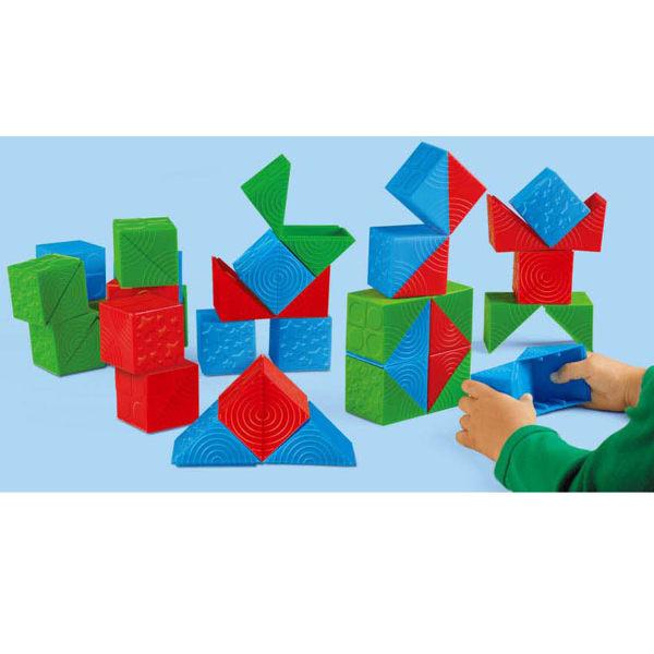 【華森葳兒童教玩具】感覺統合系列-觸覺方塊變形組 N8-TT445