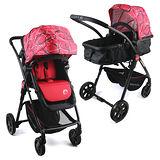 BabyBabe 超輕量歐式高景觀嬰幼兒手推車(圈圈紅)