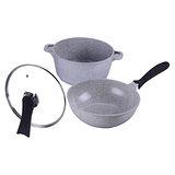 【德朗牌】岩燒鍋組(石頭炒鍋、石頭湯鍋) DEL-2200