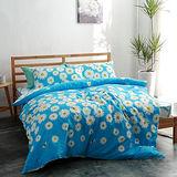美夢元素 台灣製精梳棉 雙人四件式 兩用被床包組-火金姑