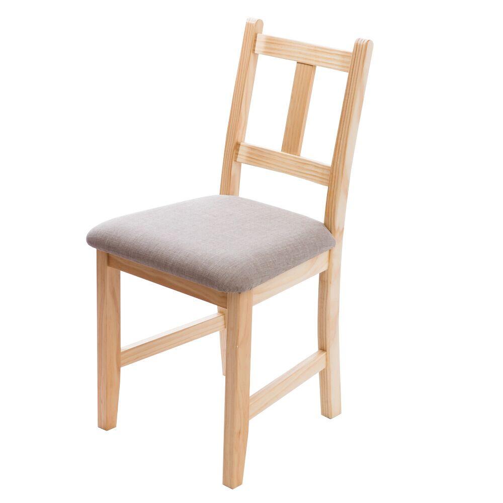 [自然行]-Avigons南法原木椅(扁柏自然色)淺灰色椅墊