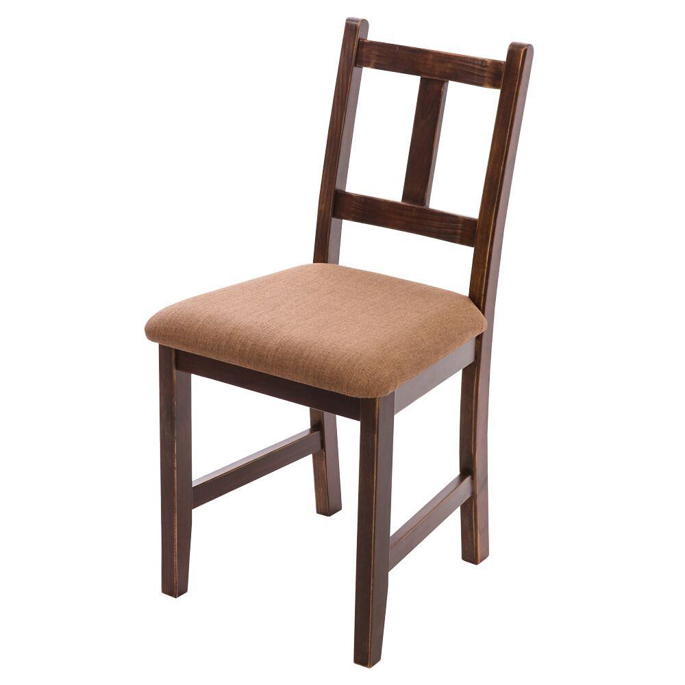 [自然行]-Avigons南法原木椅(焦糖色)深咖啡椅墊