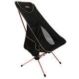 【OutdoorBase】AMOEBA 阿米巴 航太鋁合金 高背 二段 輕便 休閒 摺疊 椅(附收納袋) 低調黑 25780