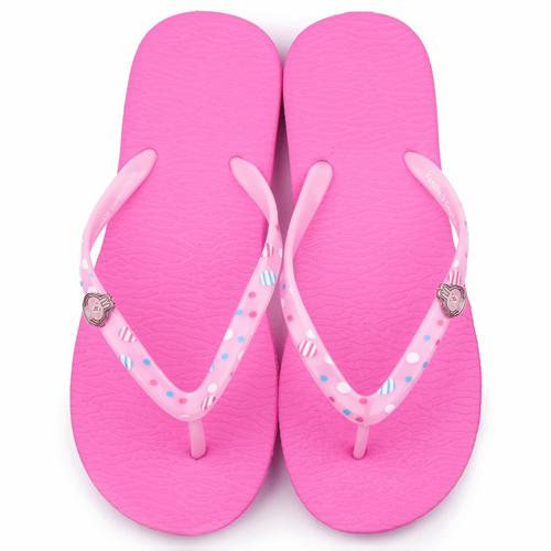 童鞋城堡-卡娜赫拉 女款 簡約輕量夾腳拖鞋KI0522-桃