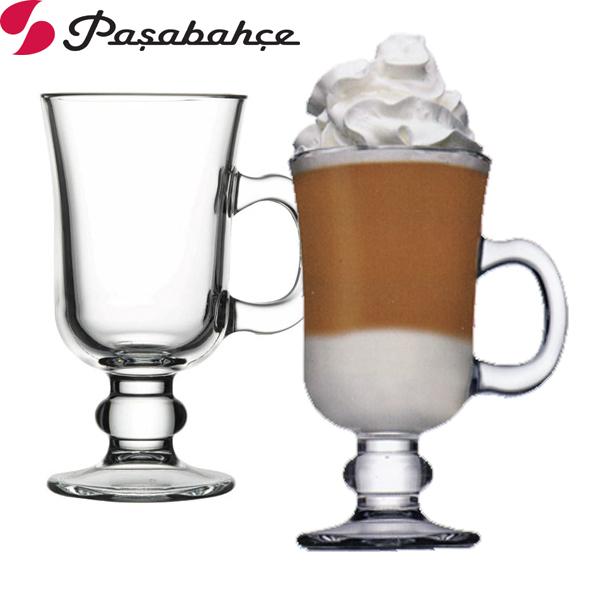 土耳其Pasabahce高腳玻璃咖啡杯-二入組