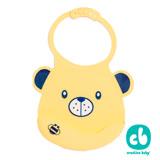 Creative Baby可收納式攜帶防水無毒矽膠學習圍兜-甜蜜小熊(Silicone Bids)