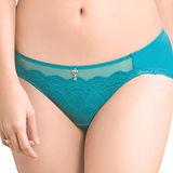【思薇爾】撩波系列M-XL蕾絲低腰三角內褲(松瓦藍)