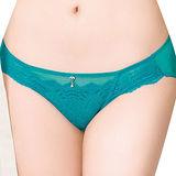 【思薇爾】撩波系列M-XXL蕾絲低腰三角內褲(松瓦藍)