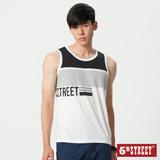 5th STREET 大色塊條紋涼感背心-男-黑色