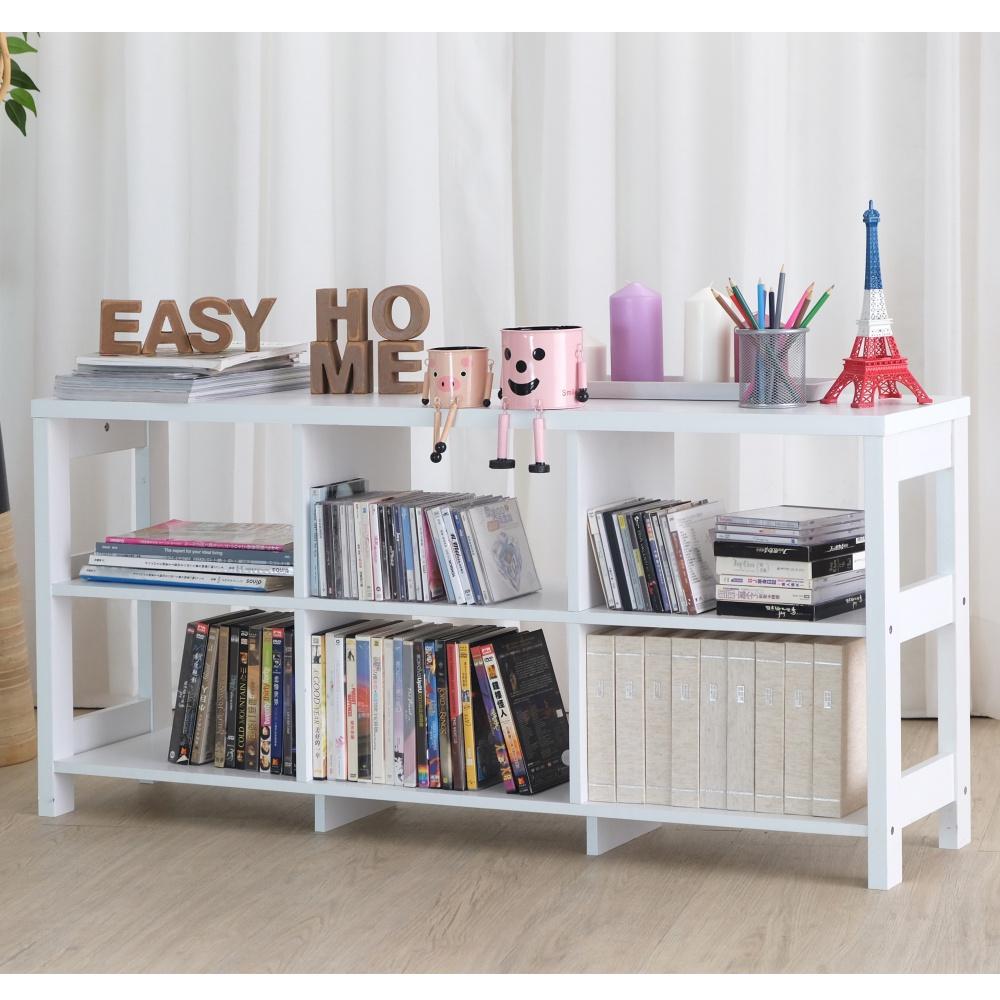 【EASY HOME】二層六格隔間展示收納櫃