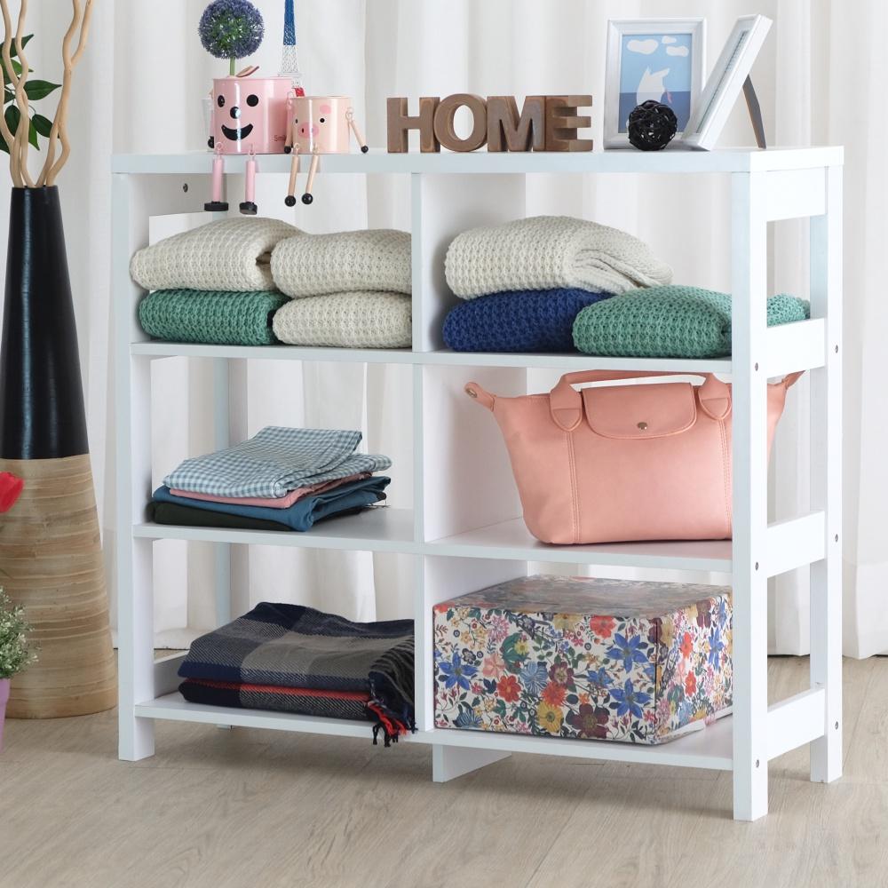 【EASY HOME】三層六格加寬隔間展示收納櫃