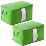 月陽60X40竹炭彩色加高型透明視窗衣物收納袋整理箱超值2入(C130LX2)
