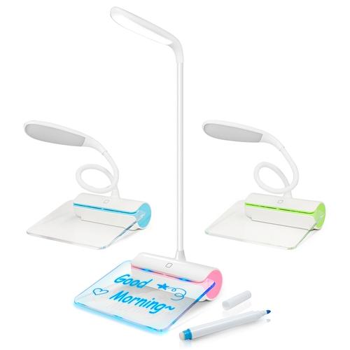 USB充電式 LED檯燈夜光留言板