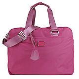 agnes b. 雙槓金屬LOGO尼龍旅行袋(大/紫紅)