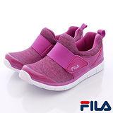 FILA頂級童鞋款-易穿脫休閒運動款816Q-999紫-(20cm~24cm)