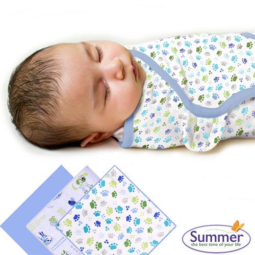 美國Summer Infant 聰明懶人育兒包巾純棉,小號3入組-寶貝狗狗