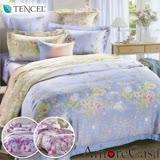 (任選1入)【AmoreCasa】100%TENCEL天絲雙人四件式兩用被床包組