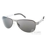 Whisper 太陽眼鏡 複合薄鋼新材質款 (銀灰) #WHM0003S C47BL
