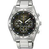 SEIKO Criteria 四度空 間太陽能計時潮流腕錶-黑/42mm V175-0AN0D(SSC061P1)