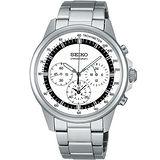 SEIKO 精工 SPIRIT 時尚簡約計時腕錶-白 7T11-0BH0S(SBTQ073J)