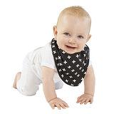 【Mum 2 Mum】雙面時尚造型口水巾圍兜-加號/黑